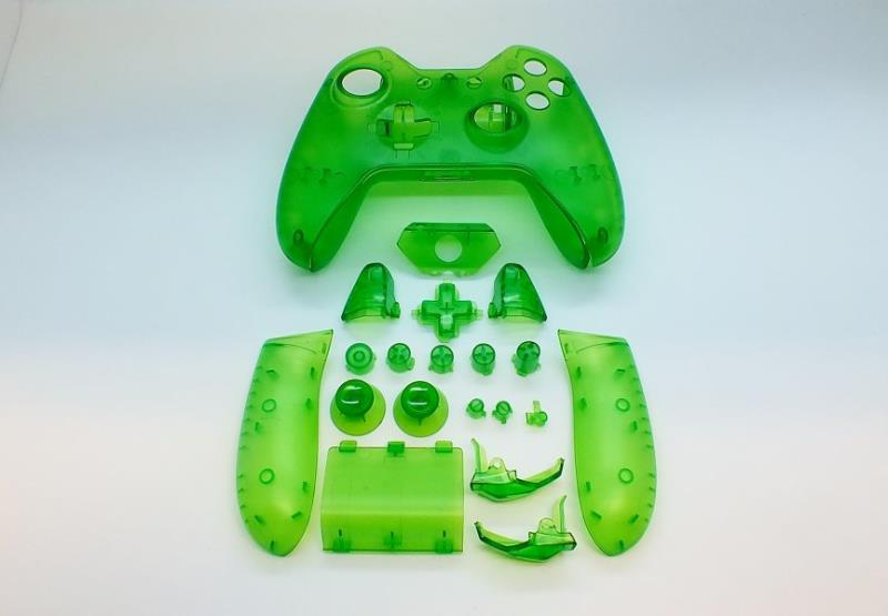 CLEAR GREEN CONTOLLER SHELL MOD KIT FOR XBOX ONE - XBOX ONE