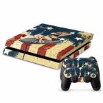 USA Flag Girl Console and Two Controller Decal Sticker Set